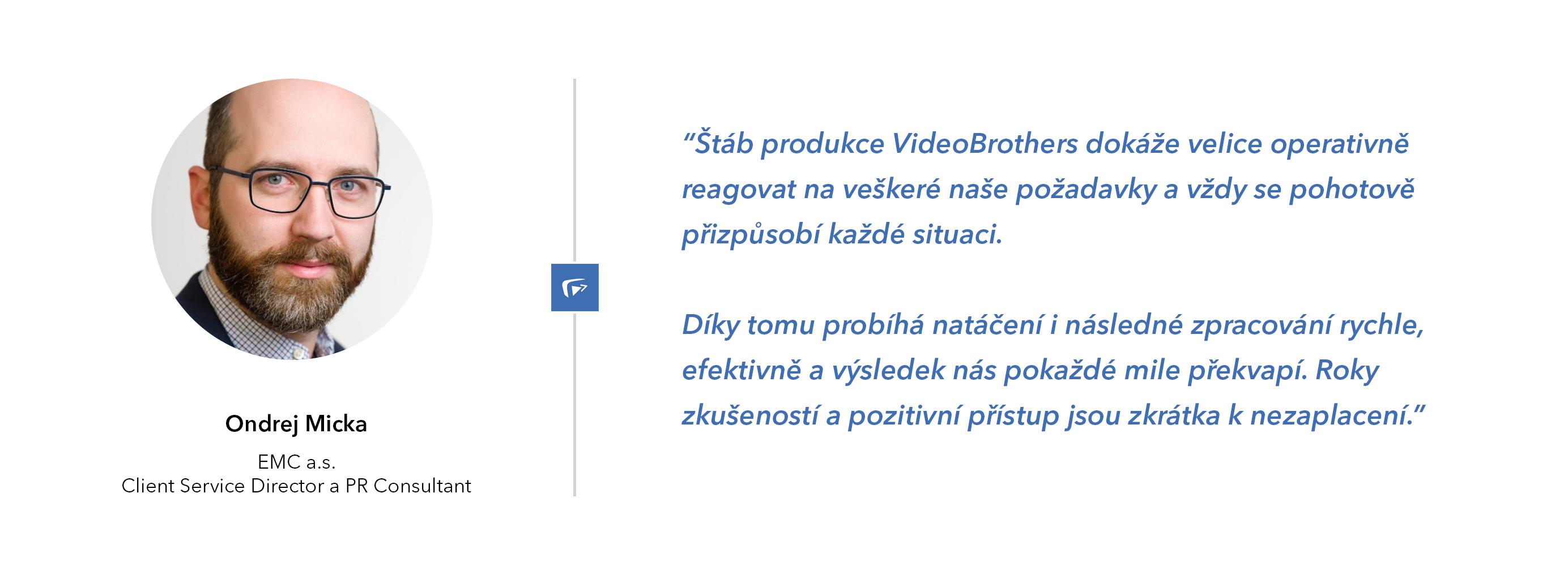 PR agentura EMC doporučuje VideoBrothers